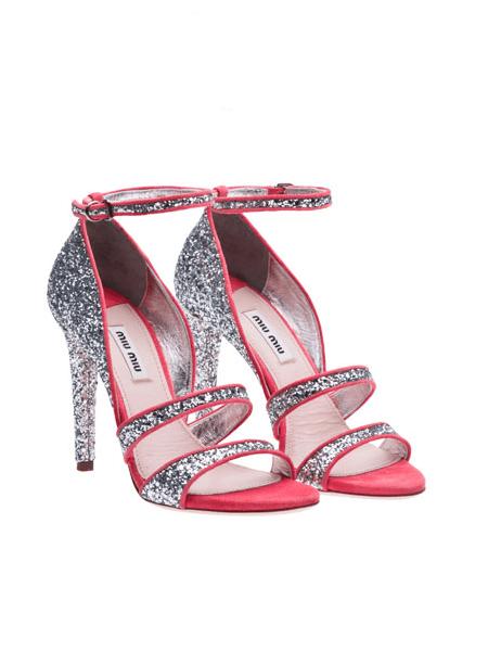 Sandales pailletées Miu Miu Eté 2012