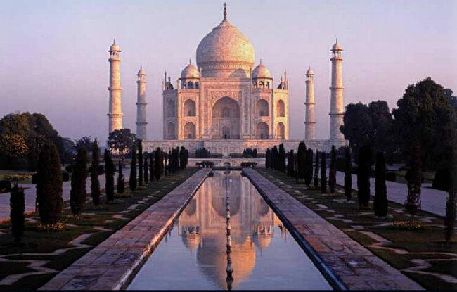 Taj Mahal na India.