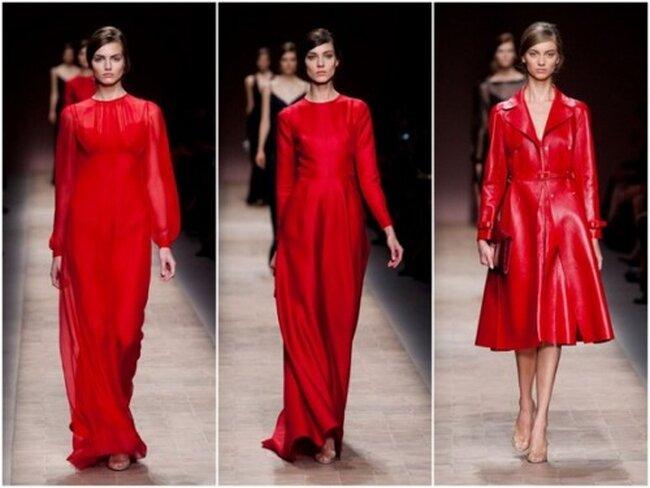 Vestidos de fiesta en color rojo con cortes simples y detalles femeninos