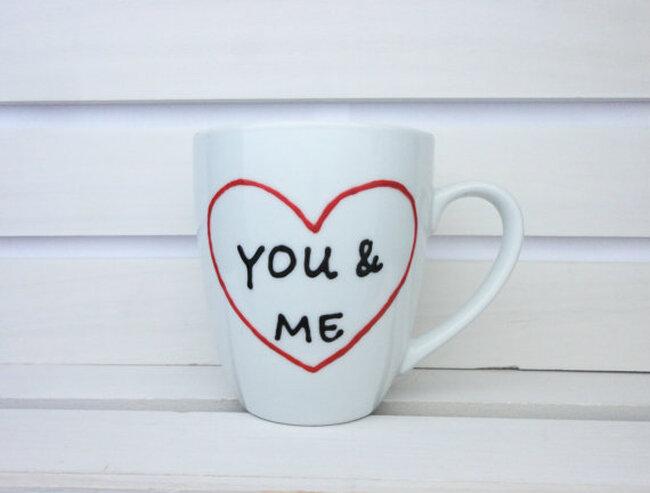 Tazas personalizables con románticos mensajes - InspireMeMugs en Etsy