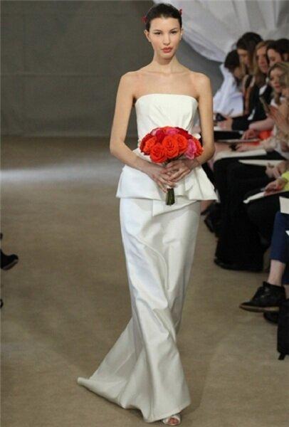 Colecção de vestidos de noiva Carolina Herrera 2013. Foto: Divulgação