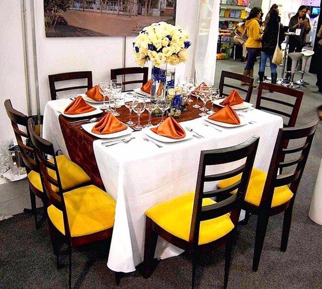 Detalles y decoración de centros de mesa Exponovias Colombia 201. Foto: Ricardo Andrade.