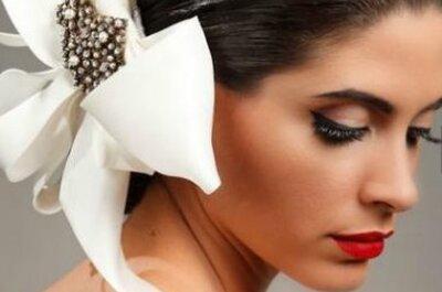 Tocados elegantes y vanguardistas para novias
