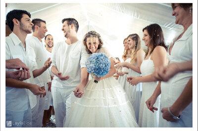 Una boda totalmente blanca