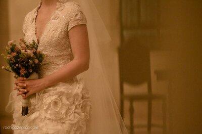 Buquês de noiva em tons pastéis