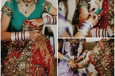 Amit and Seema say I Do at their pre wedding ceremony