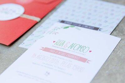Os 35 convites de casamento mais elegantes para anunciarem o vosso casamento!