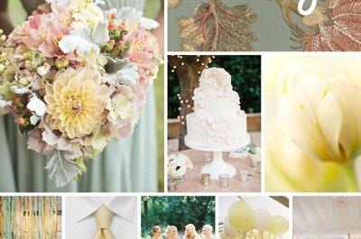 Cómo decorar una boda con el color amarillo pastel: Un tono ligero, delicado y sutil