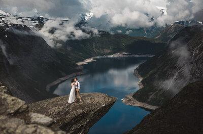 Bajecznie piękna norweska sesja ślubna Zofi i Yarko! nie przegap!