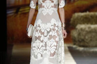 Vestidos de noiva com transparências 2016: efeito TATTOO