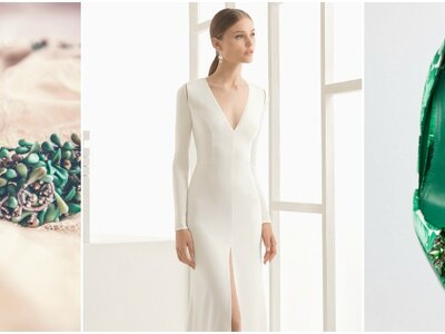 El estilismo de la semana: Una novia con toques de Greenery en su look