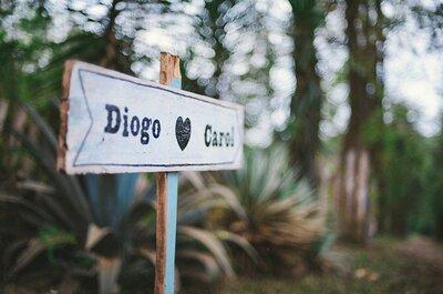 Carolinne e Diogo: casamento personalizado e cheio de encanto
