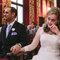 La emoción de los novios en la boda