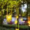 Utiliza recipientes de cristal para diseñar lámparas lindas y perfectas para tu boda - Foto: Instantánea & Tomaprimera