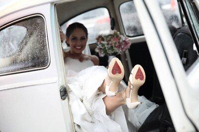 Sapatos de noiva coloridos 2015: Arrisque e arrase no seu casamento