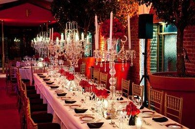 Utilizá candelabros para la ambientación de tu boda