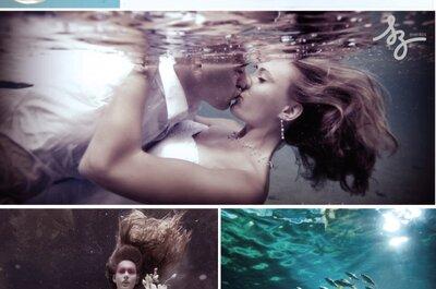 Collage de inspiración en Agua para decorar una boda