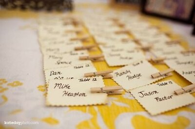 Ideias para marcar o lugar dos convidados no seu casamento