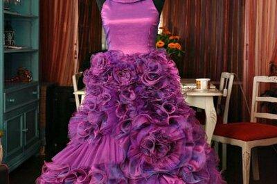 Mira los vestidos de novia con color de Fran Vallejos