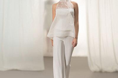 Abiti da sposa con pantaloni: scopri la nuova tendenza per il 2015!