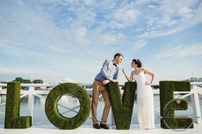 Эко-свадьба Анны и Владимира: стильно и оригинально