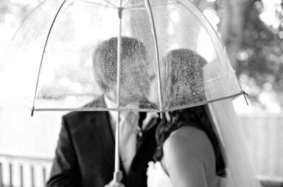 4 Tips geniales para tener las mejores fotos de boda bajo la lluvia