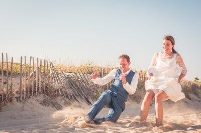 Justine + Antoine : Un joli mariage tropézien, les pieds dans l'eau!