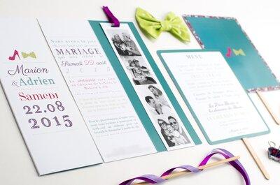 Nos 20 idées pour annoncer votre mariage sur votre faire part