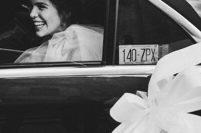 Cómo elegir el auto de tu boda de acuerdo con tu personalidad: 5 tips infalibles