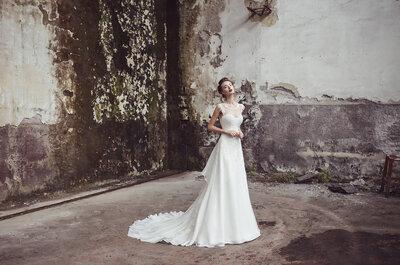 Perché scegliere tra un abito da sposa lungo o corto quando puoi avere entrambi?