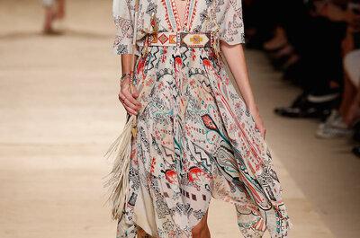 Gitana a la vista: Vestidos de fiesta con estampados coloridos, flecos y accesorios tribales... ¡Un must!