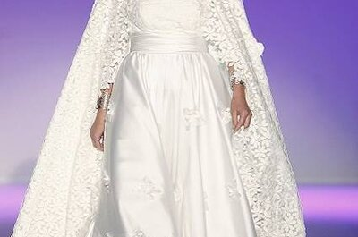 Vestidos de noiva Carla Ruiz Coleção 2013: capas e cor