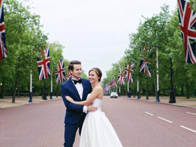 Brytyjskie flagi i Big Ben tłem do ślubnej sesji Marty i Artura!