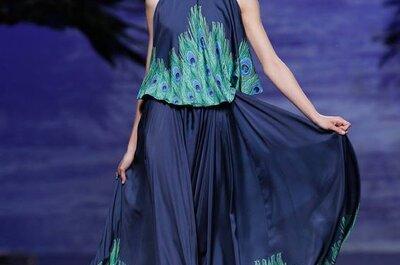Colorido invernal: Tonos vibrantes en la colección de vestidos de fiesta otoño 2014 de Francis Montesinos