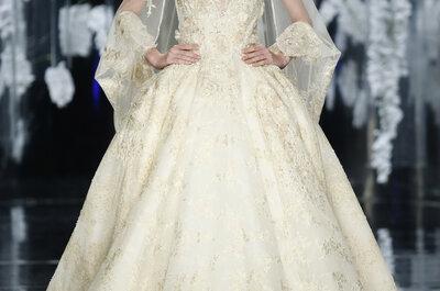 60 magníficos vestidos de noiva com saias volumosas para 2016: acrescente um toque q.b. de volume ao seu visual.
