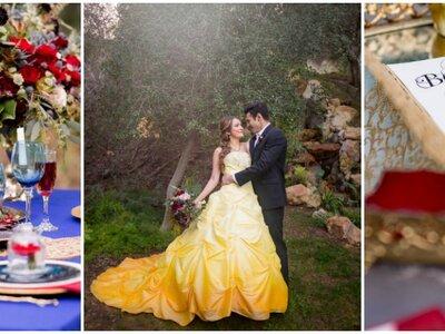 Un mariage d'inspiration conte de fées avec ce shooting La Belle et la Bête !
