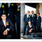 Ideias originais de fotos dos noivos com os padrinhos. Foto: Kristin Speed