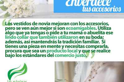 Accesorios de novia ecológicos