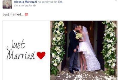 Alessia Marcuzzi oggi sposa a sorpresa!
