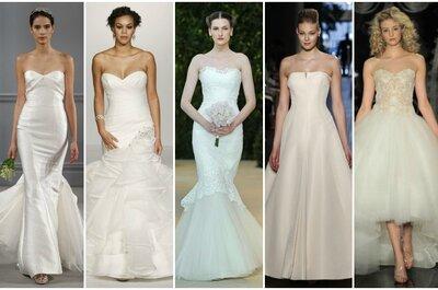 Suknie ślubne 2014: 20 najpiękniejszych projektów bez ramiączek