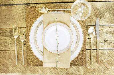 Pleno glamour: Tips para una boda en dorado
