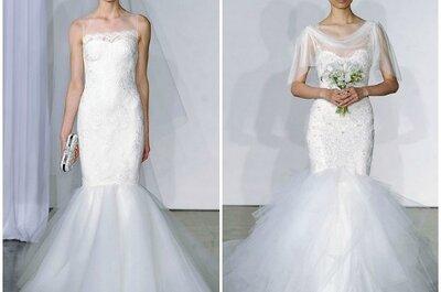 Marchesa - Colección Otoño 2013: encajes y tul para novias románticas