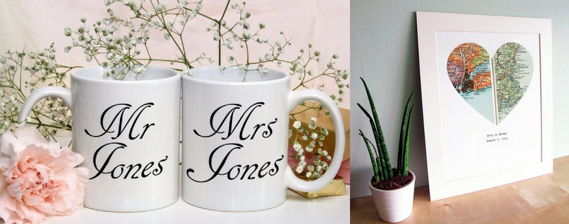8 Customized Gifts for 2017 Newlyweds: Keeping it Personal
