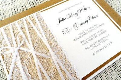 Inviti di nozze rustici