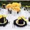 Una boda con detalles en color negro - Foto Melissa Brandman Photography
