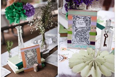 3 claves básicas para integrar los libros en los centros de mesa de tu boda