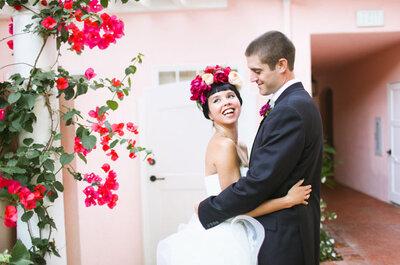 Belleza natural y flores multicolor: Una boda fantástica que te hará soñar desde la primera toma