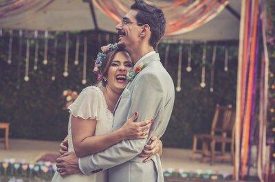 Casamento ao ar livre de Thilia & Felipe: rústico, com detalhes DIY lindos e super romântico!