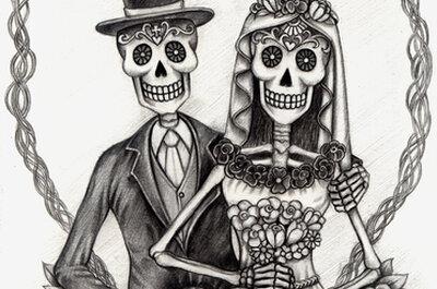 Halloween wedding inspiration? Who said romance was dead!