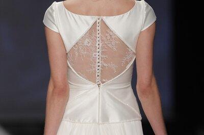 Después de ver estas fotos, morirás por un vestido de novia 2015 con escote en la espalda